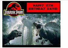 Jurassic Park Dinosaurs Personalised Birthday Cake Topper on Icing