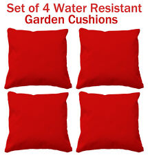 Set of 4 water resistant cushions with cushion pads outdoor cushions garden seat
