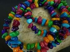 120 pce Rainbow Dyed Shell Beads Various Shapes & Colours