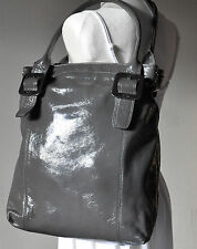Ri2K bag tote RARE extra LARGE grey LEATHER