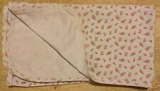 Vintage Carters ? White Baby Blanket Tiny Pink Roses 100% Cotton? Security Lovey