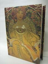 Alphonse Mucha Reverie Art Nouveau Lined Blank Journal Magnetic Closure