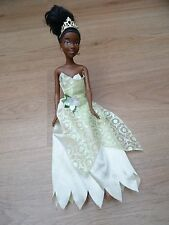 DISNEY PRINCESS & THE FROG TIANA BLACK BARBIE DOLL BY MATTEL
