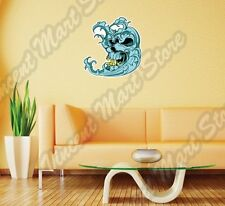 Monster Wave Evil Skull Surfing Windsurfing Wall Sticker Room Interior Decor 22""