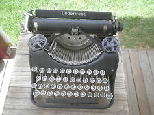 Old vintage Underwood portable typewriter with original case circa 1920's