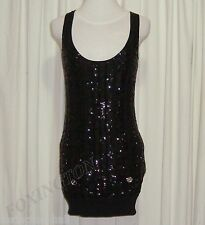 "SASS&BIDE BLACK SEQUINNED BODY CON SILK DRESS AUS 8,US 2 ""IN HER ELEMENT"""