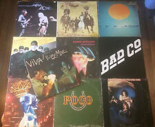 Rock Record Lot 10 LP's BLACK SABBATH, SANTANA, JETHRO TULL, DOOBIE BROS, BAD CO