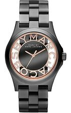 MARC BY MARC JACOBS Henry Skeleton Black Gunmetal Rose Gold Women Watch MBM3254