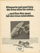 Publicité Advertising 1970  Montre fixo-flex sport