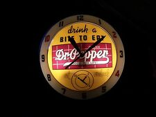 "Dr. Pepper Double Glass ""Bubble"" Advertising Clock"