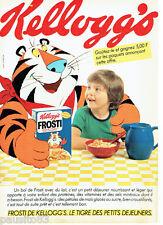 PUBLICITE ADVERTISING 096  1980  Frosti de Kellog's  petit déjeuner céréales