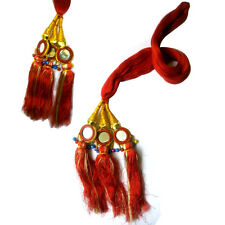 Indian Bollywood Punjabi Red Color Paranda Parandi Hair Accessory Braid Tassles