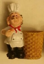 "RARE Fat Chef Toothpick Holder, Kitchen Decoration, approx 4"" high,"