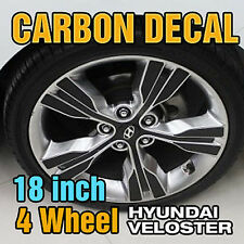 "For HYUNDAI 11+ Veloster Carbon Black Spoke Wheel Vinyl Decal Sticker 18"" 48Pcs"