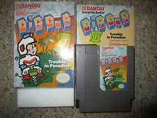 Dig Dug II: 2 Trouble in Paradise (Nintendo NES, 1989) Complete GREAT