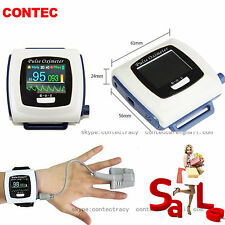 CONTEC Wrist Pulse Oximeter,OLED, USB PC Software, Alarm,24h Record,Spo2 Monitor