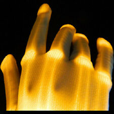 ORANGE Electro Skeleton LED Rave Raver Dance Gloves Rave Party Flashing Fun ~