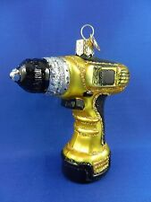 Power Drill Tool Construction Old World Christmas Glas Ornament Glass NWT 32249