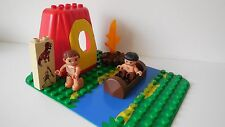 Lego Duplo - CAVEMEN Set - Cave House, Figures, Board, Boat - 4 Dinosaur sets