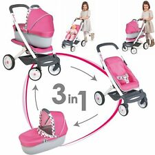 Smoby Doll pram Quinny 3 in 1 Sports car or Buggy NIP