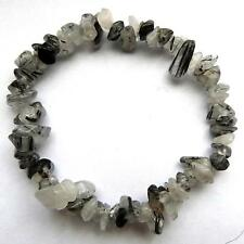 ** BELLISSIMO tourmalinated Quartz Crystal Chip Bracciale-Healing / reiki **