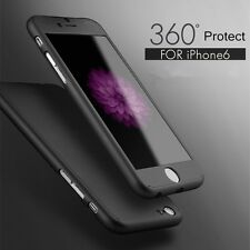 Hybrid 360° Tempered Glass + Acrylic Hard Case Cover For iPhone 7 6 6S Plus 5s
