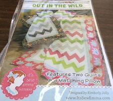 OUT IN THE WILD # ISE-132 FOR CRIB, LAP QUILT & PILLOW PATTERN BY ITS SEW EMMA