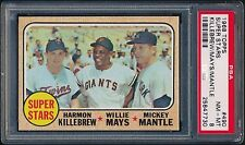 1968 Topps #490 Mantle Mays Killebrew PSA 8 NM_MT Yankees Giants Twins