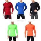 M-XXL Men Compression Long Sleeve Sports Tight Shirts Fitness GYM Base Layer Top