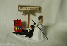Wedding Reception Ceremony Party Fishing Pole Fisherman Tackle Box Cake Topper