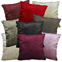 Mn+9 Shimmer Cruched Plain Color Velvet Style Cushion/Pillow Cover Custom Size