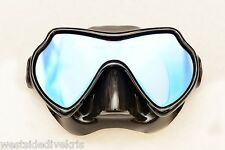 Oceanways Superview TrueColor Anti Glare Scuba Dive Mask w/anti-fog (OM836BKSFF)
