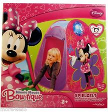 Disney Minnie Mouse Bow-tique Pop Up Kids Childrens Play Tent Indoor Outdoor New
