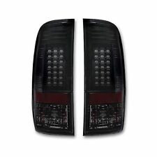 RECON 264176BK Ford SuperDuty F-250/350/450/550 08-16 Smoked-Red Tail Lights LED
