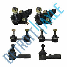 NEW 6 pc Kit - 2 Front Lower Ball Joint + 2 Outer Tie Rod End + 2 Sway Bar Link