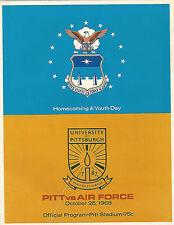 1968 Air Force vs Pittsburgh original college football program