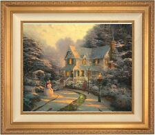 "Thomas Kinkade Night Before Christmas 20"" x 24"" LE S/N Canvas (Gold Frame)"