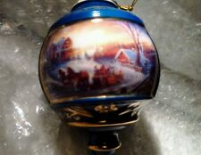 "1999 Terry Redlin ""The Pleasures of Winter"" Christmas Ornament Hadley Coll. Brad"