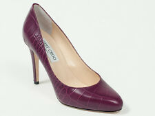 New  Jimmy Choo  Croc-Embossed Plum  Leather Shoes/Pumps 40  US 10