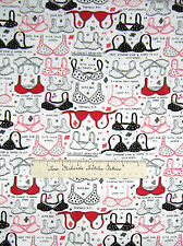 Fashion Fabric - Red White Black Bra Brassiere Lingerie - Timeless Treasures Yd