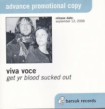 Viva Voce ‎– Get Yr Blood Sucked Out (CD, 2006, Barsuk Records) Promo RARE/OOP