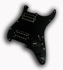 Dragonfire Prewired-Loaded Strat Pickguard HH Screamer/ H90 Combo, Black, NEW!
