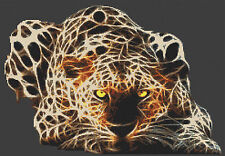 ELECTRIC Leopard contato CROSS STITCH KIT, animali / INSETTI Designs in thread