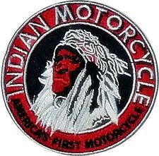 Indian Motorcycle Chief's Head sew on cloth patch  (yy)