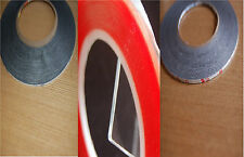 3M 1mm, 2mm x 50M Transparent and 1,5mm x 33M Red Strong Tape for Mobile, Tablet