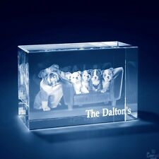 Christmas 3D Laser Crystal Personalized Engrave Gift XX-Large Brick Shape