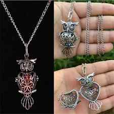 Cool Owl Locket Necklace Perfume Fragrance Essential Oil Aromatherapy Diffuser