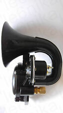 24V AIR HORN BLACK SINGLE TRUMPET PIPE ELECTRIC VALVE FITS SCANIA TRUCKS OEM
