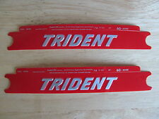 60-4149 TRIUMPH TRIDENT RED / SILVER T150 SIDE COVER PANEL BADGE DECAL (PR)