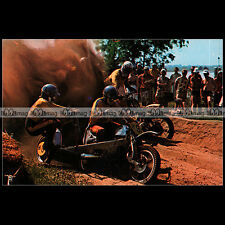 #CP40 HAN VELS & JAN JANSEN Side-Car 70's Carte Postale Moto Motorcycle Postcard